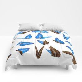 Blue Butterflies Comforters
