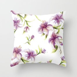 Lily Pattern Throw Pillow