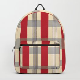 Red Striped Plaid Backpack