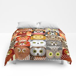 North American Owls Comforters