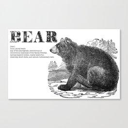 Bear mock dictionary page Canvas Print