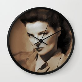 Hollywood Legends, Katharine Hepburn Wall Clock