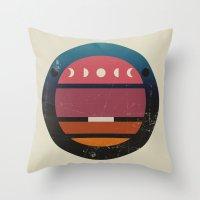 lunar Throw Pillows featuring Lunar by Trent Kühn