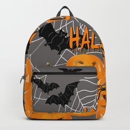 Pumpkins Happy Halloween Illustration Backpack