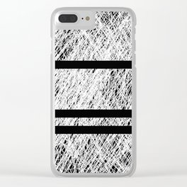 Interrupted Thoughts - Abstract Black And White Clear iPhone Case