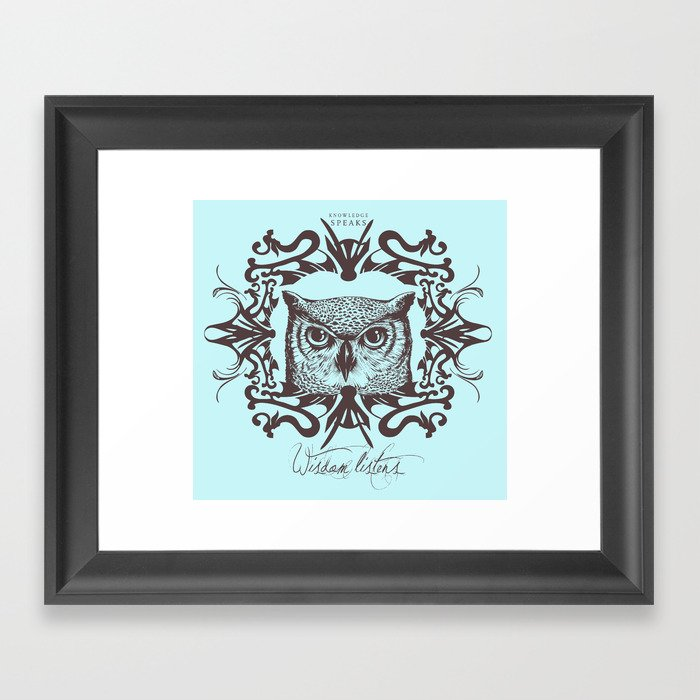 Wisdom Listens Framed Art Print