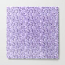 Soft Lilac Knit Textured Pattern Metal Print