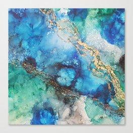 Gold Stream Canvas Print