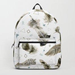 Boho shic style Feathers Backpack