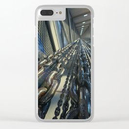 Chained Elevator Shaft Clear iPhone Case