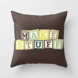 Make Stuff - Brown Throw Pillow