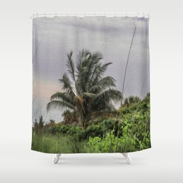The Wild Palm Tree Shower Curtain