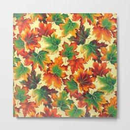 Autumn maple leaves I Metal Print