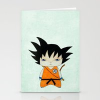 dbz Stationery Cards featuring A Boy - Goku by Christophe Chiozzi