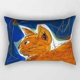 Socca Ginger Cat Art Rectangular Pillow