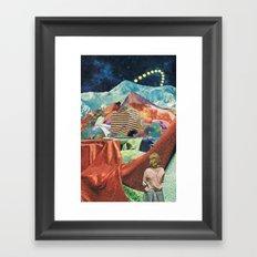 THE MELTING WALL (2015) Framed Art Print