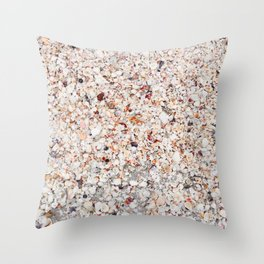 Sea Shells by the Sea Shore Throw Pillow