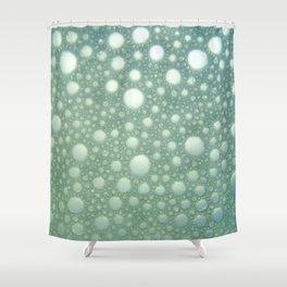 Abstract green teal modern polka dots texture pattern Shower Curtain