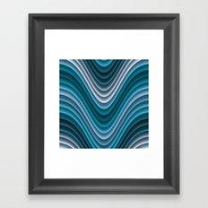 Organic Undulations (teal) Framed Art Print