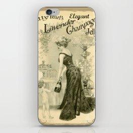 Kitty Pearl's Elegant Lavender Champagne Jelly iPhone Skin