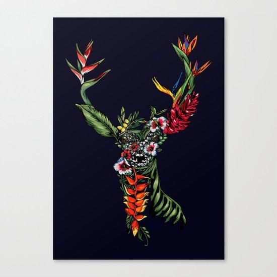Tropical Deer Canvas Print