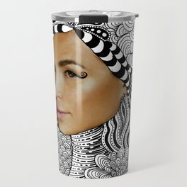 Tangled Face Travel Mug