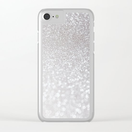 Silver ice - glitter - Luxury design Clear iPhone Case