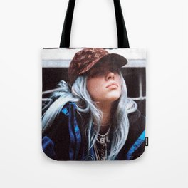 Billie Eilish with a LV hat Tote Bag