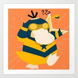 Booster Gold Psyduck Art Print