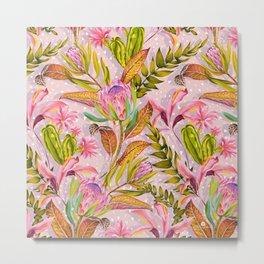 Botanical love pattern Metal Print