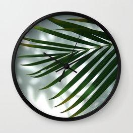 Palm Shadow Wall Clock