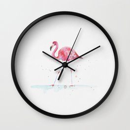 Tropicals: Pink blush flamingo Wall Clock