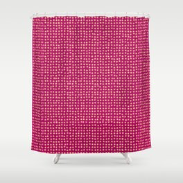 Gold dots on magenta - soft pastel Shower Curtain