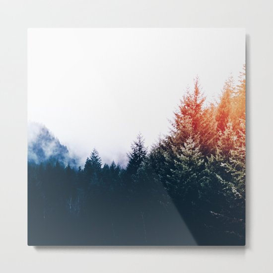 Waking up in a forest Metal Print
