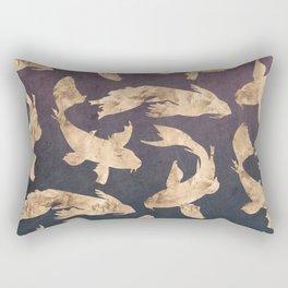Gold Ocean Rectangular Pillow
