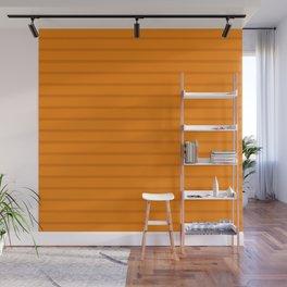 Orange Monochrome Horizontal Stripes Pattern Wall Mural