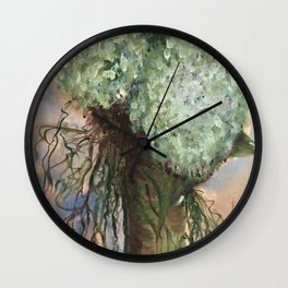 Goddess Rhea's Hydrangea and Willow painting Wall Clock