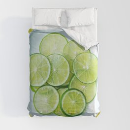 Lustrous Lime Comforters