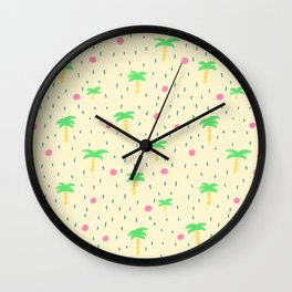 Palm Tree for Warm Weather Wall Clock