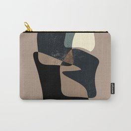 Clay Shapes Black, Teal and Offwhite Carry-All Pouch
