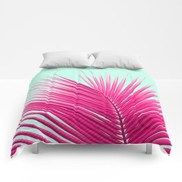 Pink Candy Cane Palm Comforters