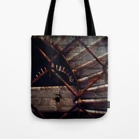 industrial Tote Bags featuring Industrial by KunstFabrik_StaticMovement Manu Jobst
