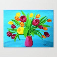 Tulips for Easter Canvas Print