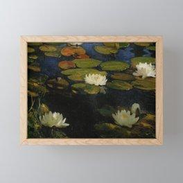 Waterlilies by Albert Edelfelt Framed Mini Art Print