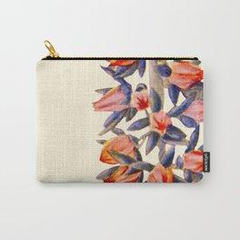 Purple And orange Vintage Succulent Watercolour Carry-All Pouch