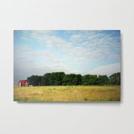 Barn on the Prairie  Metal Print