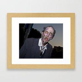 elderly zombie Framed Art Print