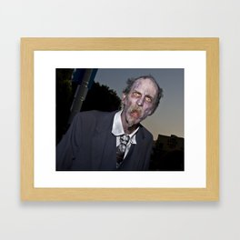 elderly zombie Framed Art Print