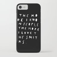 smiths iPhone & iPod Cases featuring THE MORE I KNOW PEOPLE by WASTED RITA
