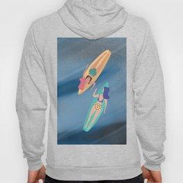 Surf Sisters - Muted Ocean Color Girl Power Hoody